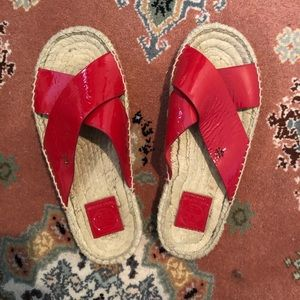 Tory Burch Red Bima Sandals